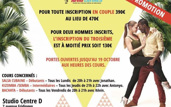 PROMOTION INSCRIPTION DANSE DE COUPLE